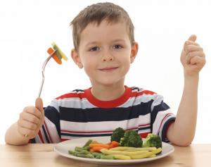 Kids Eating Their Vegetables